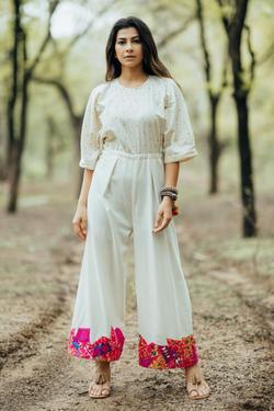 Handloom Cotton Patchwork Jumpsuit