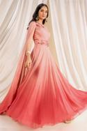 Embellished Ombre Gown