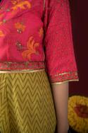 Block Print Dress with Embroidered Cropped Jacket