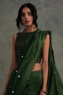 Embroidered Chanderi Saree with Blouse