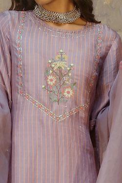 Handwoven Silk Kurta & Silk Pant Set
