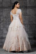 Embroidered Layered Gown