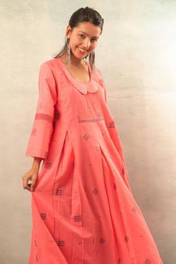 Handwoven Jamdani Maxi Dress