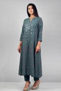 Handloom Cotton Embroidered Kurta Set