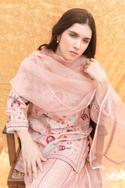 Silk Embroidered Kurta & Sharara Set