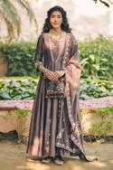 Chanderi Silk Embroidered Anarkali with Dupatta