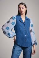 Denim Embroidered Shirt