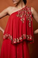 One Shoulder Layered Gown