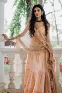 Embellished Anarkali with Ruffle Dupatta