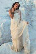 Embroidered Organza Saree with Blouse