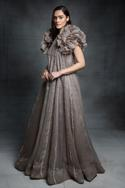 Trapeze Gown with Ruffle Jacket