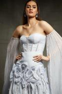Off Shoulder Draped Gown
