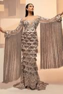 Hand Embroidered Fringe Gown