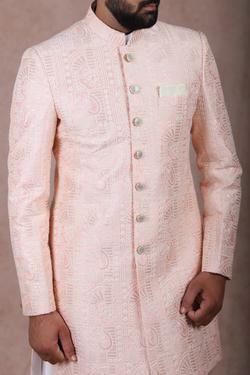 Silk Embroidered Sherwani & Kurta Set
