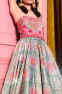 Floral Embroidered Bandeau Gown
