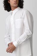 Cotton Spread Collar Shirt