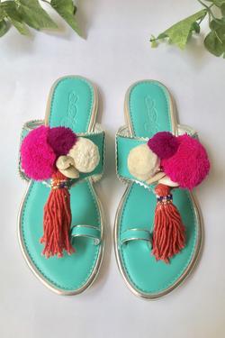 Pom Pom Tassel Sandals