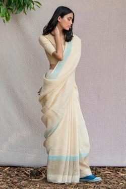 Handwoven Linen Saree