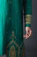 Silk Embroidered Jacket & Kurta Set