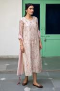 Embroidered Handloom Anarkali with Dupatta
