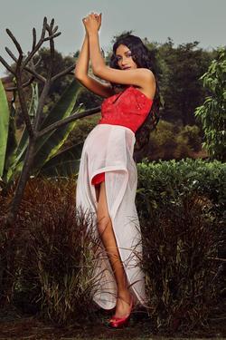 One Shoulder Romper & Skirt Set