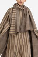 Striped Jumpsuit with Reversible Jacket & Scarf
