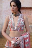 Handwoven Chanderi Embroidered Saree Blouse