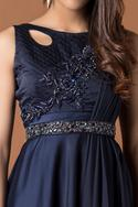 Embellished Draped Gown