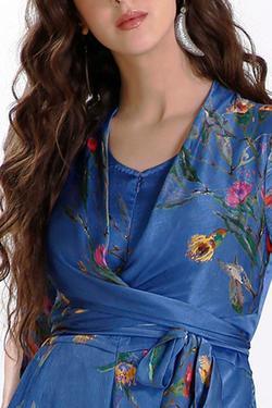 Silk Organza Printed Jumpsuit