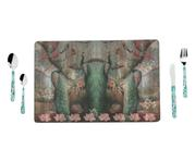 Peacock Table Mat (Set of 8)