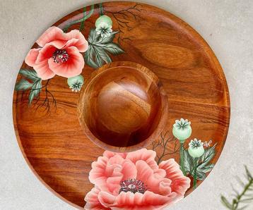 Hand Painted Mezze Platter Set
