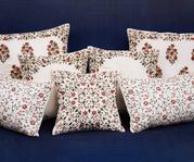 Chanderi Cushion Cover with Filler (Single Pc)
