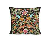 Silk Embroidered Square Cushion Cover with Filler