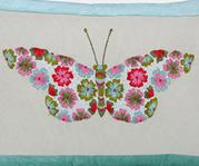 Embroidered Rectangular Cushion Cover with Filler