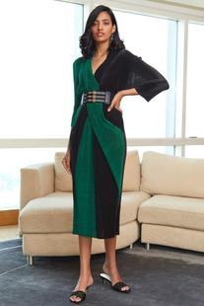 A-Line Colorblock Dress