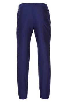 Blue tailored single button closure pants