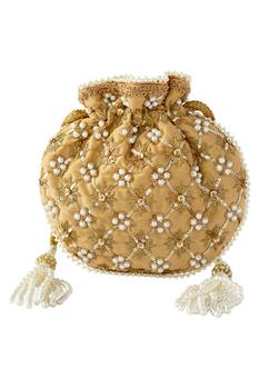 Pearl Jaal Embroidered Potli Bag
