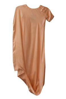 Cowl draped Pearl Embroidered Dress