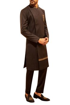 Embroidered Overlap Sherwani