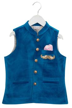 Mustache Embroidered Jacket With Shirt & Breeches