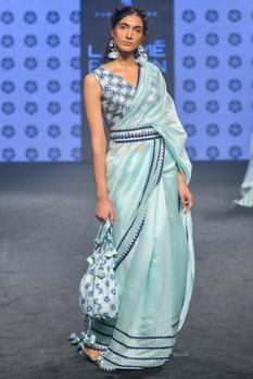 Embroidered Blouse With Saree