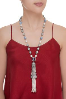 Shell Pearl Long Necklace