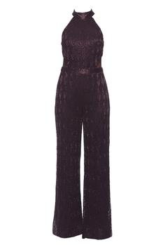 Embroidered Halter Jumpsuit