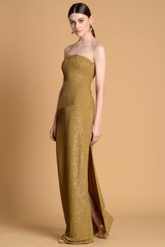 Embroidered Tube Gown