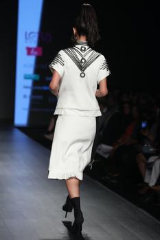 Embroidered shirt with skirt