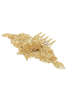 Floral carved hair pin