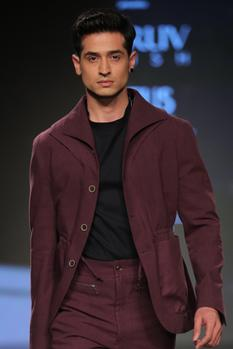 Button down jacket with shirt