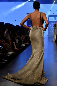 Draped Fishtail Gown