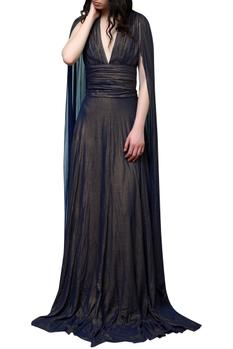 Elongated sleeves gown