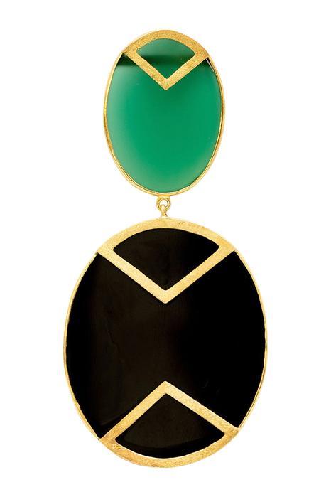 Stone geometric earrings
